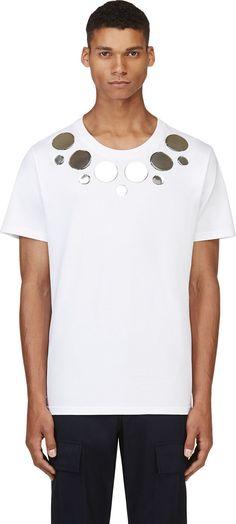 Christopher Kane: White Vinyl Appliqué T-Shirt