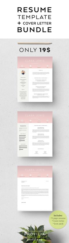 Word Resume \ Cover letter Template Resume cover letters, Words - steps on how to do a resume