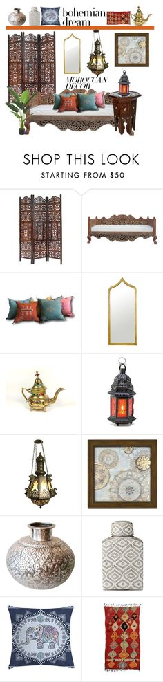 """Moroccan Decor"" by hastypudding ❤ liked on Polyvore featuring interior, interiors, interior design, home, home decor, interior decorating, INC International Concepts, New View and Lene Bjerre"