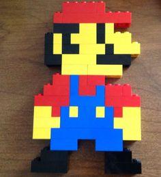 We're going to make a retro original Lego Mario figure! Lego Mario, Lego Super Mario, Easy Lego Creations, Lego Creations Instructions, Lego Design, Diy Preschool Toys, Mario Crafts, Lego Challenge, Lego Activities