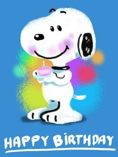 Happy Birthday Snoopy Images, Happy Birthday Emoji, Snoopy Birthday, Happy Birthday Quotes For Friends, Birthday Cartoon, Birthday Wishes For Myself, Birthday Wishes Funny, Happy Birthday Pictures, Birthday Blessings