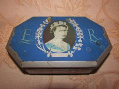 Vintage Collectable C.W.S. Biscuit Works Crumpsall & Cardiff Coronation Tin-1953