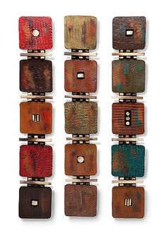 5-Tile Modern by Rhonda Cearlock: Ceramic Wall Sculpture available at www.artfulhome.com