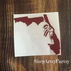 FSU Florida State University Decal by ShopArtsyFartsy on Etsy