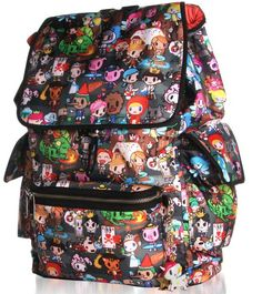 tokidoki  A few people have told me this one is fake - but it's not! This image came straight from tokidoki.it and I own the bag - bought directly from Tokidoki! Don't ask me why the zipper isn't colored!