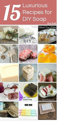 DIY luxury soaps! Learn the recipes and make your own.