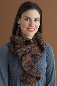 Crochet Ruffle Scarf Pattern (Crochet) – Lion Brand Yarn