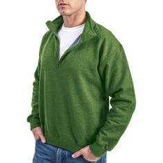 Gildan Men's 1/4 Zip Cadet Collar Sweatshirt, Size: Medium, Green