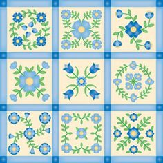 Patchwork Quilt Blocks web. Love this blue for a quilts girl I know