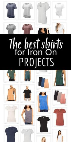Love to create your own t-shirts with iron-on transfers Check out this awesome resource with some of the softest and most comfortable shirts for your next project! Use your Cricut Maker and Cricut Easy Press 2 to finish the project! via TwelveOnMain Blank T Shirts, Vinyl Shirts, Old T Shirts, Cool Shirts, Love Shirt, Diy Shirt, Screen Printing Shirts, Diy T Shirt Printing, Cricut Tutorials