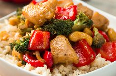 This Healthier Cashew Chicken Stir-Fry Is The Perfect Take-Out Alternative
