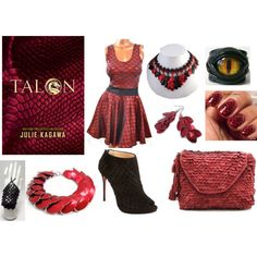 """Talon by Julie Kagawa inspired book look"" by beesha1 on Polyvore"