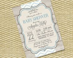 Rustic Wood Vintage Baby Boy1 - Baby Shower, Bridal Shower, Birthday Invitation - Any Event - Any Color Scheme - Chevron Kelly Style on Etsy, $18.00