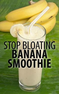 Stop+Bloating+Banana+Smoothie