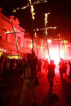 Lewes Bonfire, Lewes, County Sussex, UK - Guy Fawke's Day, or Bonfire Night, is traditional throughout the UK, but in Lewes the celebration reaches new heights