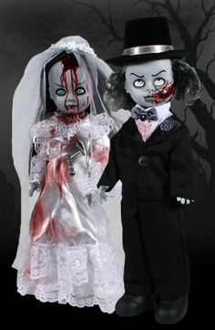 Zombie Bride and Groom Halloween Prop Dolls by WhimsyandMalice, $150.00