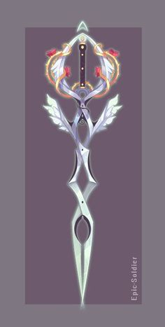 Weapon adopt by Epic-Soldier on DeviantArt Fantasy Sword, Fantasy Weapons, Fantasy Art, Espada Anime, Sword Design, Harry Potter Drawings, Anime Weapons, Weapon Concept Art, Anime Outfits