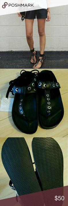 SALE Zara sandals Zara wrap up sandals in black. Size 7.5. New with tags. Zara Shoes