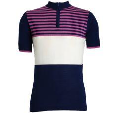 Jura Cycle Clothing - Navy Blue, Ecru, Pink Cycling Jersey