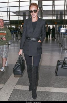 cool Rosie Huntington-Whiteley LAX Airport   Style