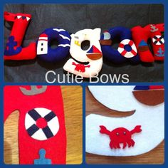 Nautical Themed Name Banner by CutieBowsAccessories on Etsy, £3.50