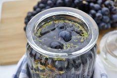 Eingelegte Weintrauben - Rezept