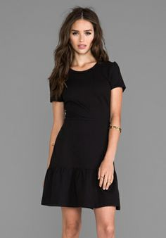 Juicy Couture Solid Ponte Flirty Dress in Pitch Black http://www.revolveclothing.com/DisplayProduct.jsp?product=JUICY-WD756&c=Dresses&s=C