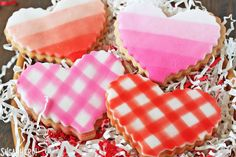 These Brown Butter Heart Cookies are a gourmet twist on sugar cookies! They have a rich taste and are decorated with ombre fondant.