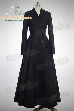 Revisiting some old favourites from FanPlusFriend's site - Elegant Gothic Aristocrat Wide Skirt Bottom Slim Waist Long Thick Wool Coat