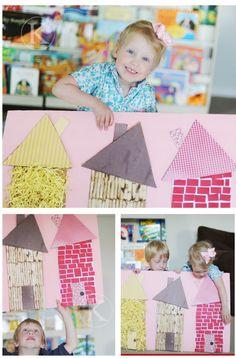 Nursery Rhyme Crafts: Three Little Piggies - Fun Crafts Kids Three Little Pigs Houses, Three Little Piggies, Nursery Rhyme Crafts, Nursery Rhymes, Traditional Tales, Traditional Stories, Fairy Tale Theme, Fairy Tales, Fun Crafts For Kids
