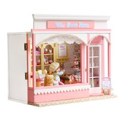 Home Decoration Crafts DIY Doll House Wooden Doll Houses Miniature DIY dollhouse Furniture Kit Room LED Lights Gift E002