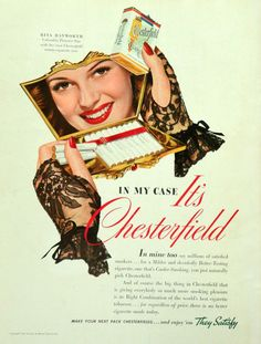 Chesterfield 1942 - Rita Hayworth