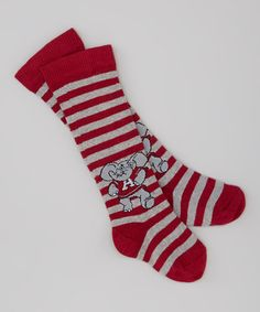 Take a look at this Red Stripe Alabama Knee-High Socks by Little Big Fan on #zulily today!