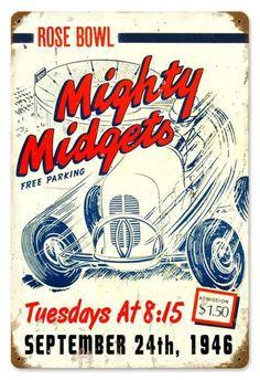 Vintage Mighty Midgets Metal Sign, $22.98 (http://www.jackandfriends.com/vintage-mighty-midgets-metal-sign/)