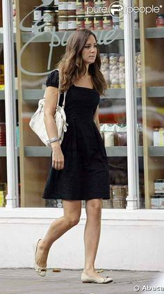 Kate Middleton in a little black dress and cute flats