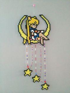 Sailor moon perler bead mobile/Dreamcatcher