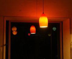 Custom hand blown glass lights