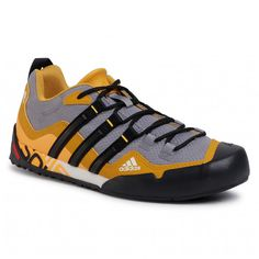 Topánky adidas - Terrex Swift Solo FX9325 Grey Three/Core Black/Legacy Gold - Outdoorové topánky - Poltopánky - Pánske | eobuv.sk Adidas Terrex, Textiles, Trekking, Swift, Men's Shoes, Marvel, Sneakers, Products, Templates