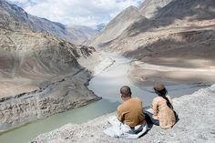 The Zanskar meets the Indus The confluence of the two rivers occurs near Nimmoo, Jammu and Kashmir, northern India. Plitvice Lakes National Park, Banff National Park, National Parks, Taj Mahal, Two Rivers, Visit India, Ultimate Travel, Lonely Planet, Trekking