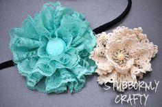 diy lace flowers simple and soooooooo cute!