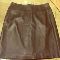 "Genuine leather super soft skirt. Mid length Beautiful and soft leather. Whole piece. High class stitching.  Has been bought for a wedding and worn once. Like NEW. Please respect the price I listed since it's lowered down a lot already. Reasonable offers. Thank you! Lengths 29"". Skirts Midi"