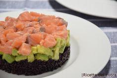 Rice, salmon and avocado Avocado Recipes, Rice Recipes, Vegan Recipes, Authentic Italian Tiramisu Recipe, Canned Blueberries, Vegan Scones, Caesar Pasta Salads, Scones Ingredients, Good Enough To Eat
