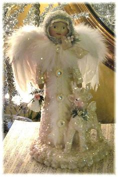 Unique collection of handcrafted Snowmen, Santas & Victorian Christmas Stockings. Some are made in the Folk Art tradition, while others are reminiscent of the Victorian Era. Welcome To Christmas, Christmas Past, Pink Christmas, Christmas Angels, Winter Christmas, Christmas Stockings, Christmas Crafts, Christmas Decorations, Christmas Ideas