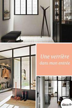 Votre entrée est sombre et étriquée ? Une verrière est LA solution pour apporter de la lumière et de l'espace dans votre entrée ! http://www.deco.fr/photos/diaporama-verriere-dans-entree-d_4591