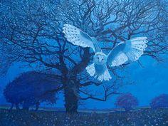 Catto Gallery | Annie Ovenden Exhibition 2017 | Barn Owl at Kirkland