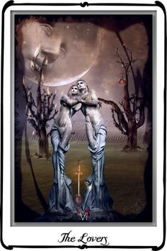 REVERSED MEANING: Keywords: Procrastination, bad decisions, confusion, miscommunications, trials and tribulations, indecision, discord, strong opposition, arguments, disagreements, pressure. {Tarot The Lover by `azurylipfe on deviantART}