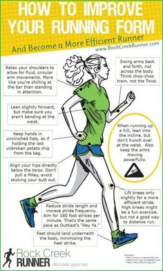 How to improve your running form Exercise and fitness routines, motivation, tips and advice. Ideas and motivation for beginners and experienced athletes. Get Fit and Keep Fit Fitness Workouts, Running Workouts, Fitness Motivation, Daily Motivation, Fitness Routines, Running Humor, Running Hacks, Mini Workouts, Tips On Running