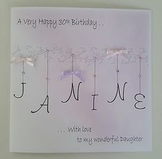 Large Personalised 30th Birthday Card Daughter 13th 16th 18th 21st 40th 50th