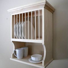 3 Different Wall-Mounted Dish Racks:  What's Your Style?