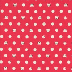 Friskers Coral Cat Lady Collection By Sarah Watts for Cotton & Steel Fabrics by FABRIKSHOP on Etsy https://www.etsy.com/listing/267055553/friskers-coral-cat-lady-collection-by